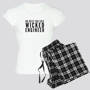 No Rest For This Wicked Engineer Gift Pres Pajamas