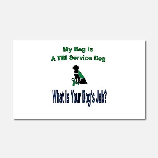 I'm a TBI service dog Car Magnet 20 x 12