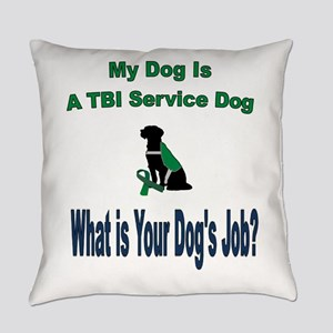 I'm a TBI service dog Everyday Pillow