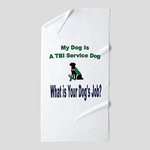 I'm a TBI service dog Beach Towel