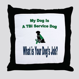 I'm a TBI service dog Throw Pillow