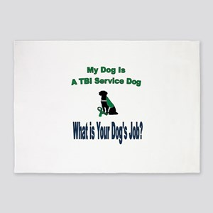 I'm a TBI service dog 5'x7'Area Rug