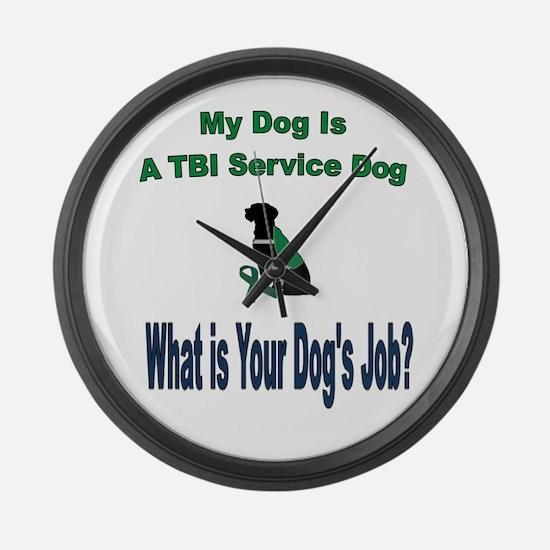 I'm a TBI service dog Large Wall Clock