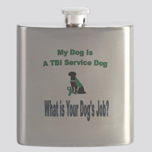 I'm a TBI service dog Flask