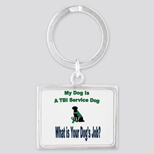 I'm a TBI service dog Keychains