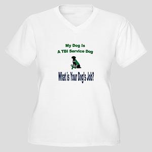 I'm a TBI service dog Plus Size T-Shirt