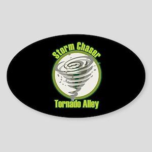 Storm Chaser Logo Oval Sticker