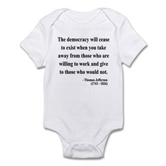 Thomas Jefferson 3 Infant Bodysuit