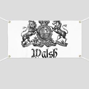 Walsh Vintage Crest Last Name Banner