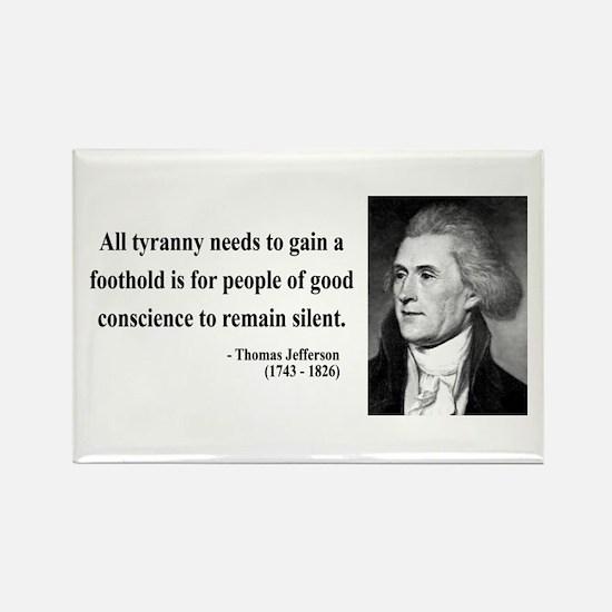 Thomas Jefferson 4 Rectangle Magnet