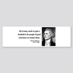 Thomas Jefferson 4 Bumper Sticker