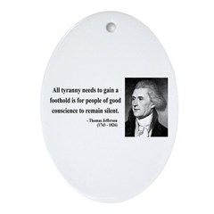Thomas Jefferson 4 Oval Ornament