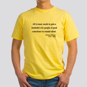 Thomas Jefferson 4 Yellow T-Shirt