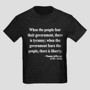 Thomas Jefferson 6 Kids Dark T-Shirt