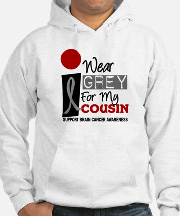 I Wear Grey For My Cousin 9 Jumper Hoody
