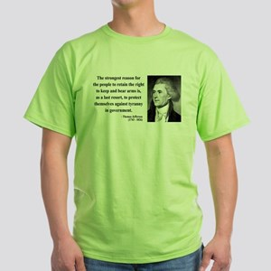Thomas Jefferson 7 Green T-Shirt
