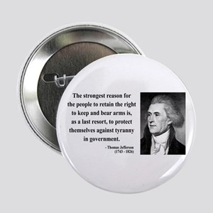 "Thomas Jefferson 7 2.25"" Button"