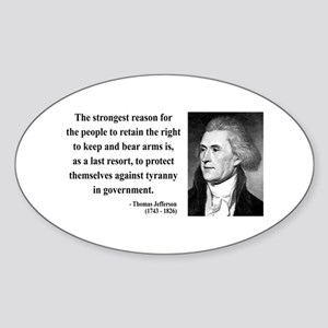 Thomas Jefferson 7 Oval Sticker