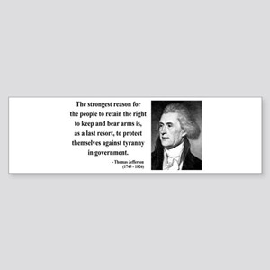 Thomas Jefferson 7 Bumper Sticker