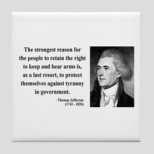 Thomas Jefferson 7 Tile Coaster