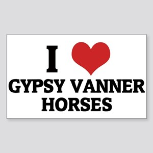 I Love Gypsy Vanner Horses Rectangle Sticker