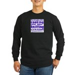 Cooking before Knitting? Long Sleeve Dark T-Shirt