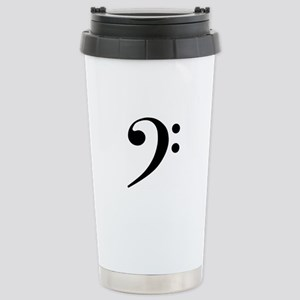 Bass Clef Stainless Steel Travel Mug
