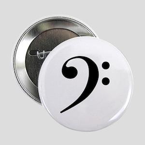 "Bass Clef 2.25"" Button"