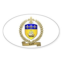 LIZOTTE Family Crest Oval Decal