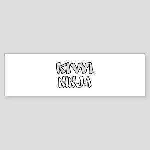 """""""Kiwi Ninja"""" Bumper Sticker"""