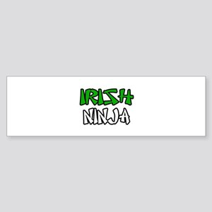 """""""Irish Ninja"""" Bumper Sticker"""