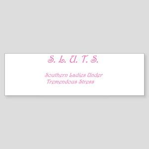 S.L.U.T.S. in pink Bumper Sticker