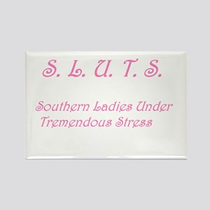 S.L.U.T.S. in pink Rectangle Magnet