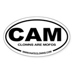 Clowns are Mofos Oval Sticker