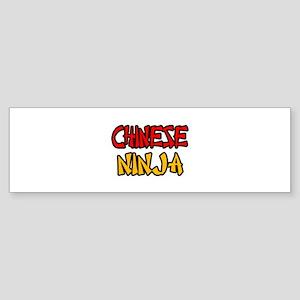 """Chinese Ninja"" Bumper Sticker"