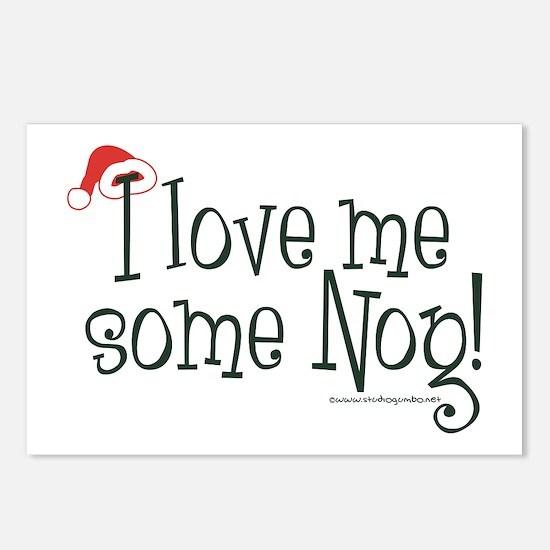 Love me some Eggnog! Postcards (Package of 8)