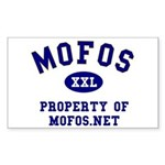 Property of Mofos Rectangle Sticker