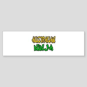 """Australian Ninja"" Bumper Sticker"
