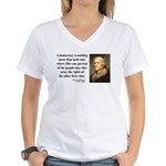 Thomas Jefferson 16 Women's V-Neck T-Shirt