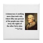Thomas Jefferson 16 Tile Coaster