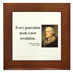 Thomas Jefferson 17 Framed Tile