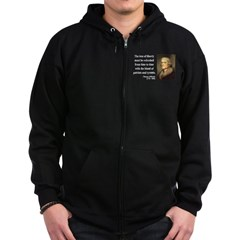 Thomas Jefferson 18 Zip Hoodie (dark)