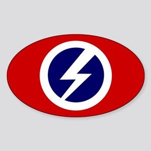 Flash and Circle Oval Sticker