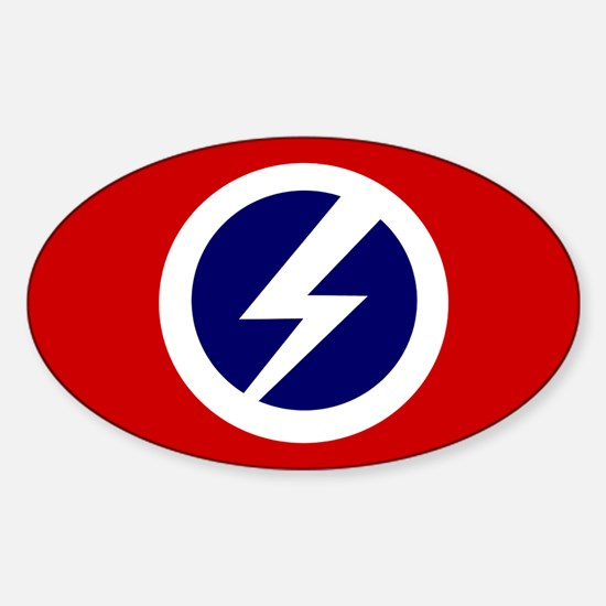 Flash and Circle Oval Decal
