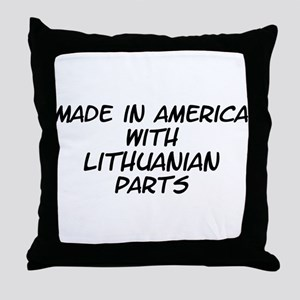 Lithuanian Parts Throw Pillow