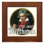Ludwig von Beethoven Framed Tile
