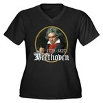 Ludwig von Beethoven Women's Plus Size V-Neck Dark