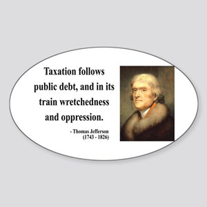Thomas Jefferson 26 Oval Sticker