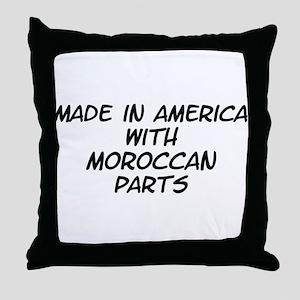 Moroccan Parts Throw Pillow