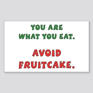 Avoid Fruitcake Rectangle Sticker